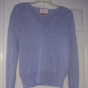 Lavender Sweater with Beading-Gorgeous